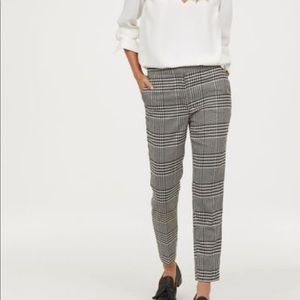 2/$15 S Grey Plaid H&M Slacks